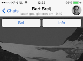 WhatsApp achtergrond header