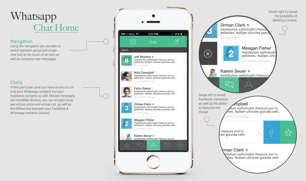 WhatsApp chat Home hoofdscherm