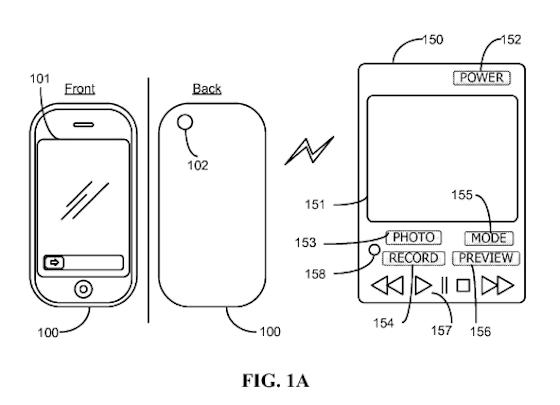 iPhone afstandsbediening fotografie patent