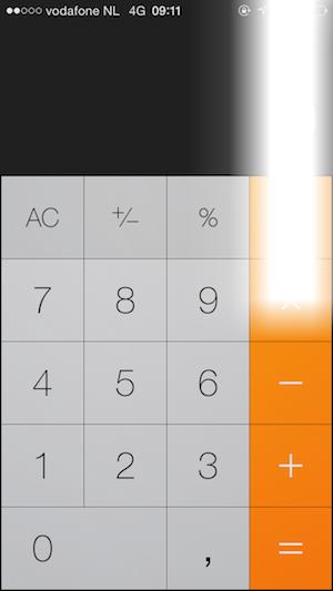 Witte vlek iOS 7.1