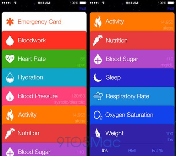 Healthbook screenshots