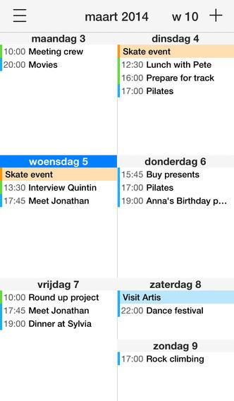 Supercal 2 agenda-app witte header