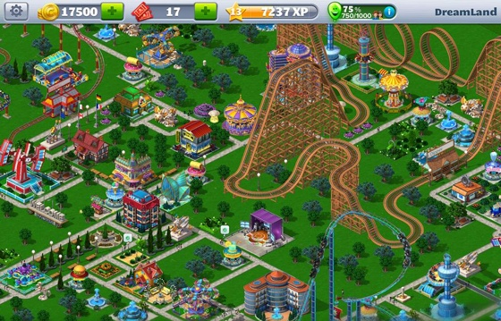 Rollercoaster Tycoon 4 Mobile iOS screen