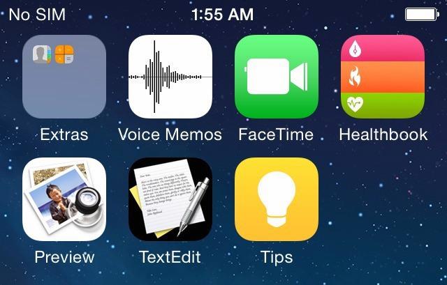 iOS 8 iconen teaser