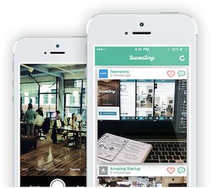 TeamStory iPhone voor startups
