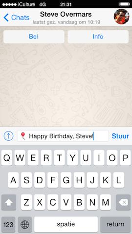 WhatsApp Fantastical