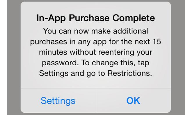 In-app aankopen iOS 7.1 waarschuwing