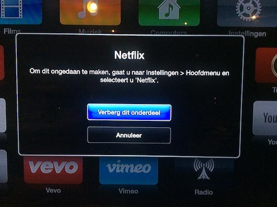 Apple TV 6.1 iconen verbergen