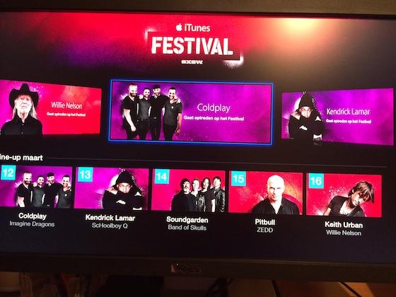 Apple TV SXSW iTunes Festival app