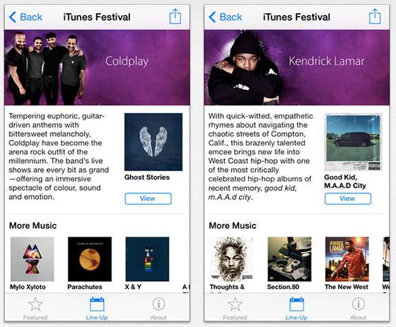 iTunes Festival screenshots