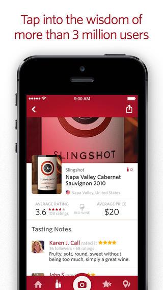 Vivino Wine Scanner iPhone 3 miljoen wijnen