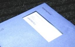 Belastingdienst envelope op deurmat