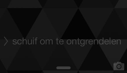 Ontgrendelscherm iOS 7
