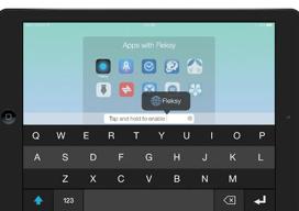 Fleksy toetsenbord iPhone iPad