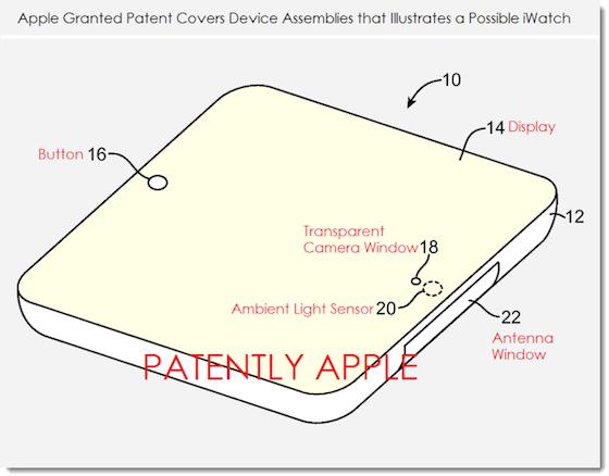 Apple-patent beschrijft mogelijke onderdelen en assemblage iWatch