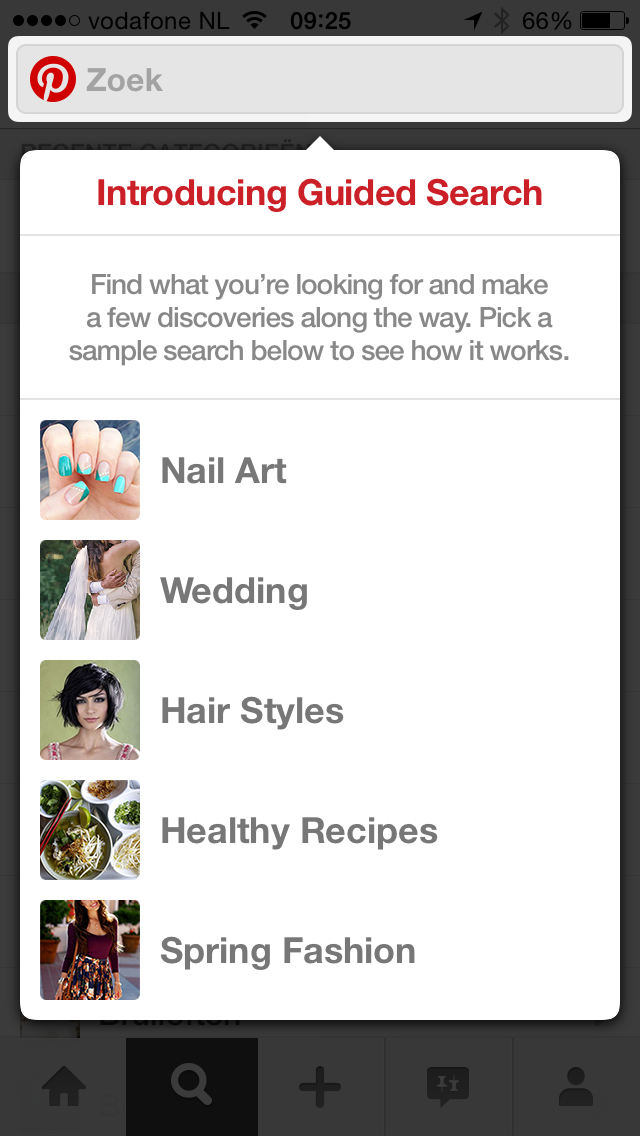 voorbeeld guided search pinterest