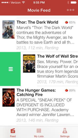 Moviedo iPhone movie feed