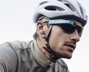 google glass iphone fietser