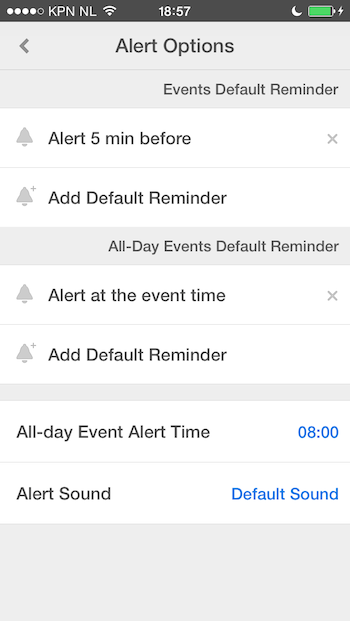 Calendars 5 notificaties