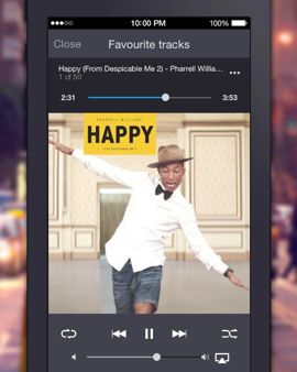 Deezer favoriete tracks iPhone