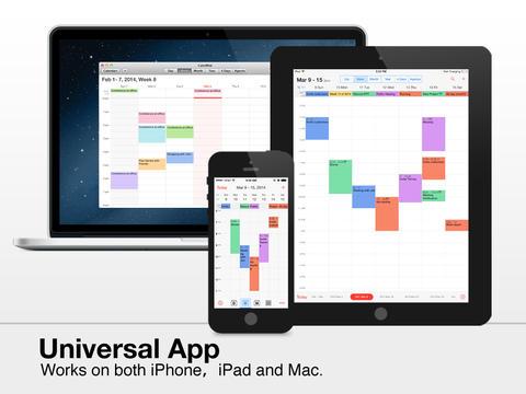 CalenMob iOS 7 design