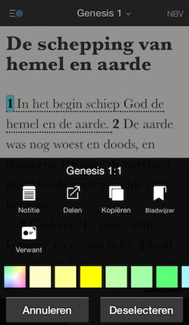 Bijbel - verzen delen
