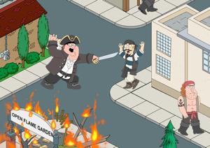 ICS Family Guy zwaardgevecht iOS