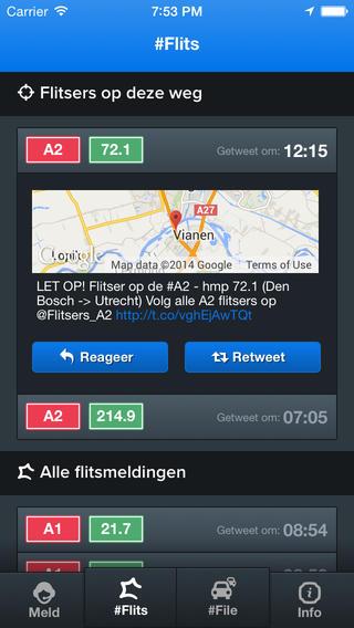 Flits details van een tweet iPhone