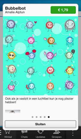 Betaalde stickers in BBM voor iPhone