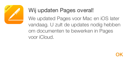 iCloud pages updates