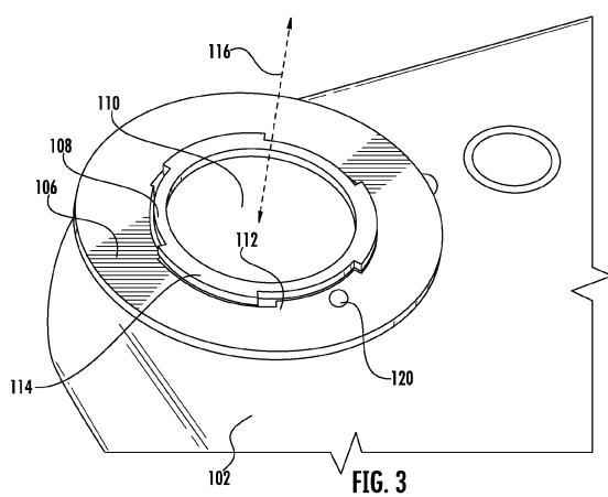 iPhone camera bayonet patent