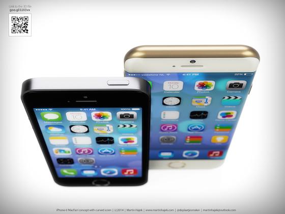 Gebogen iPhone 6 concept Martin Hajek 3