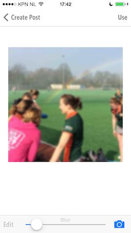 Cloaq foto blurren iPhone