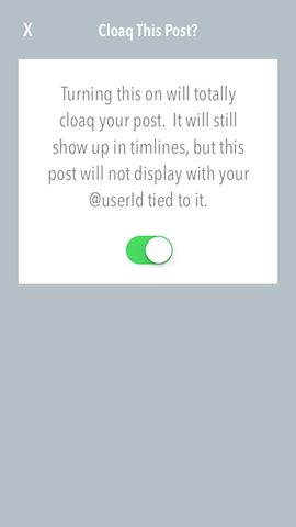 Cloaq post anonimiseren