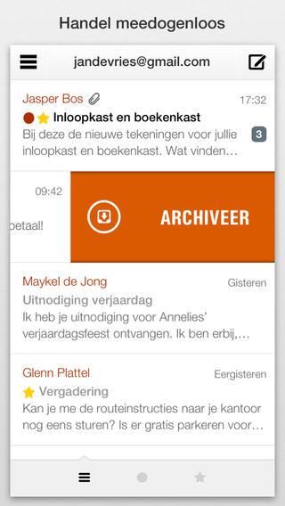 Dispatch e-mail archiveren