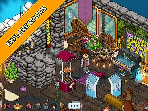 Habbo Hotel kamer vol items