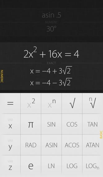 Archimedes iPhone calculator iOS