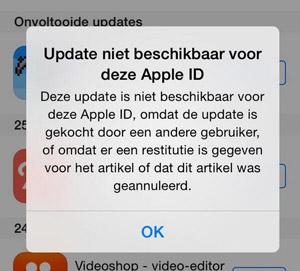 update-niet-beschikbaar