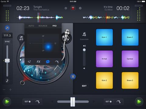 djay 2 Spotify integratie draaien effecten