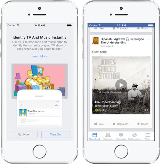 Facebook muziek herkennen
