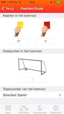 Poollie pool app kaarten goals