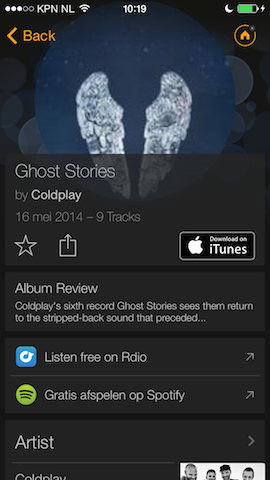 SoundHound Coldplay Ghost Stories