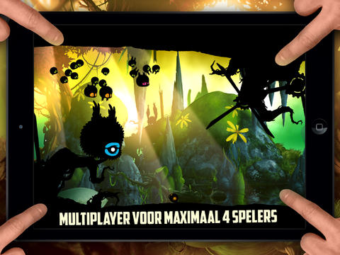 Badland vier spelers iPad iPhone