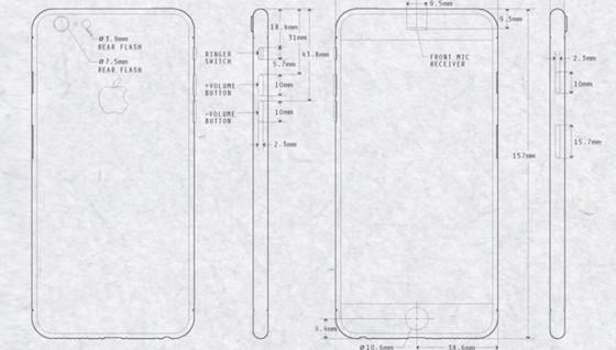 iPhone 6 schematische tekening