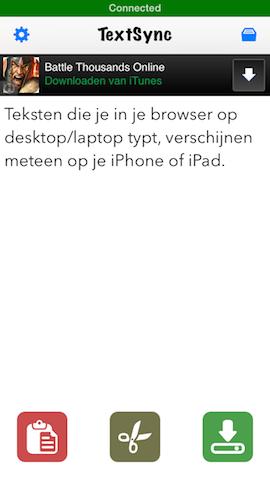 TextSync voor iPhone