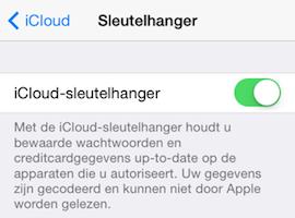 iCloud-sleutelhanger