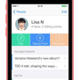 Contacten apps Glue Social Notebook