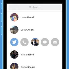 Contacten apps iPhone Mingle
