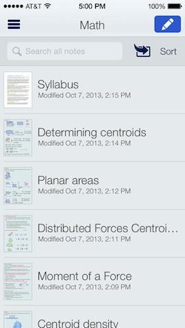 Notability voor iPhone en iPad