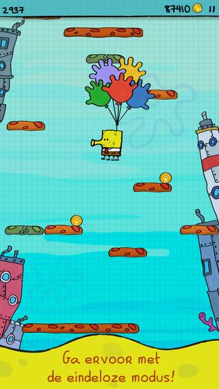 Doodle Jump Spongebob Squarepants iOS